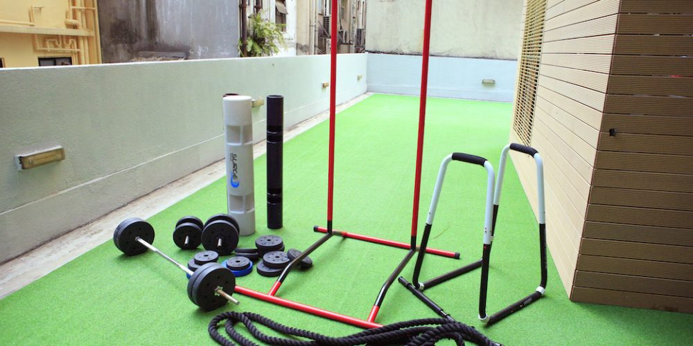 XP Fitness Outdoor Workout Area in Central, Hong Kong