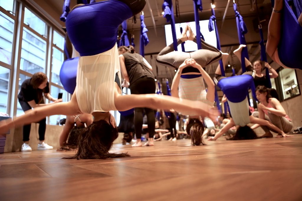 Aerial Yoga at XP Fitness in Central, Hong Kong