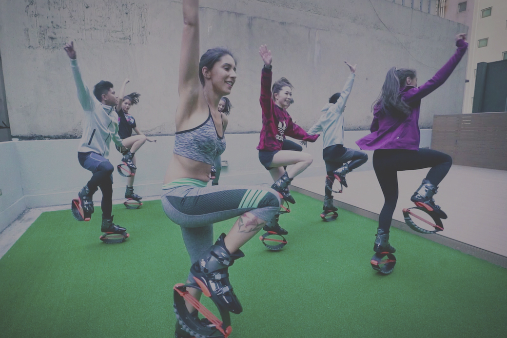 Kangoo Jumps at XP Fitness in Central, Hong Kong